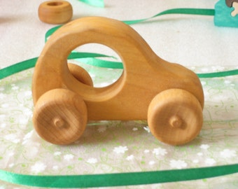 Eco friendly Wooden baby toy Car. Impregnated with linseed oil - Ready to Ship