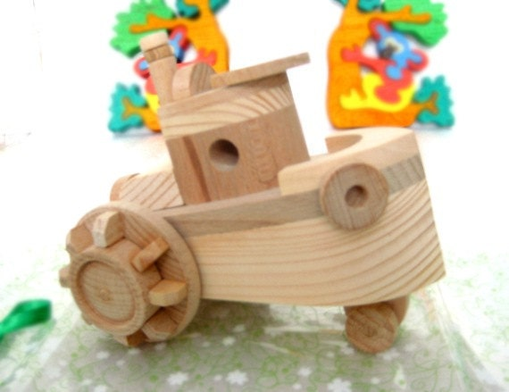 Kids Wooden/Wood Toy SHIP. Handmade eco friendly wooden toys - Ready to Ship