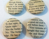 Hercule Poirot / Agatha Christie pinback button (badge) set
