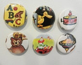 S A L E Vintage children's books and toys magnet set (6)