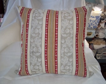 French Ticking Pillow Cover