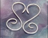 S Shaped Curl Silver Tribal Earrings