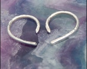 Tiny Curl Silver Tribal Earrings