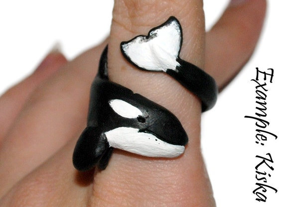 Custom Hand Made Ring Designed to look like your Favourite Orca