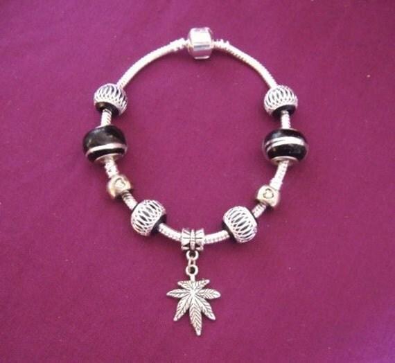 Pandora Style Black and Silver Bracelet