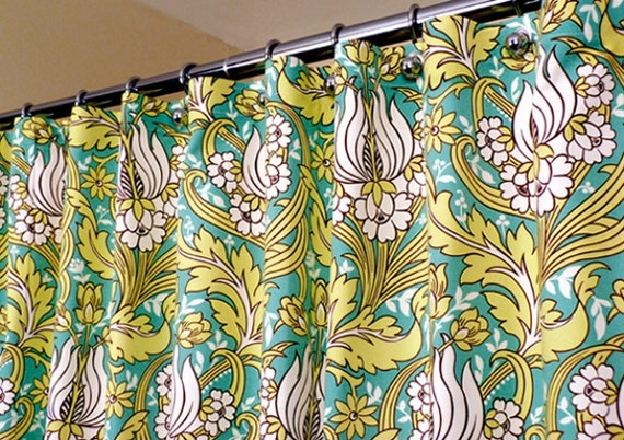 Amy Butler Shower Curtain in Water Lily Pattern in by LaRicaHome