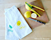 Easy Peasy, Lemon Squeezy - Flour Sack Tea Towel