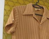 Vintage Mens Shirt .. Vintage Mustard Yellow Mens Shirt