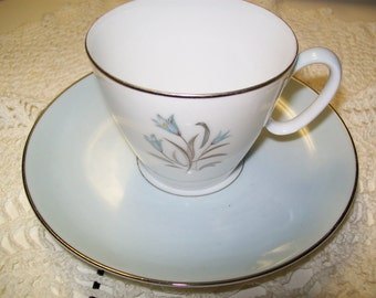 Vintage Noritake China Cup and Saucer Pattern 5564  Very similar to Noritake Bluebells