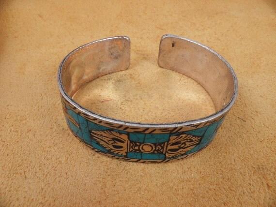 Tibetan Dorje Turquoise Bracelet