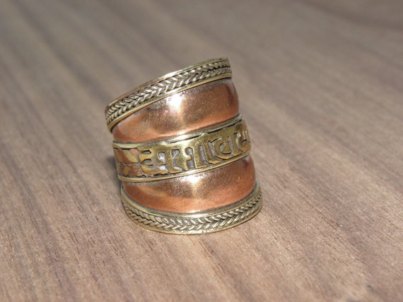 Om Mani Padme Hum Ring By Newartjewelry On Etsy