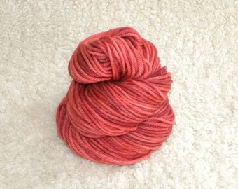 Hand Dyed yarn, Bulky Weight, 100% Superwash Merino Wool, 137 yards/100g- Country Club