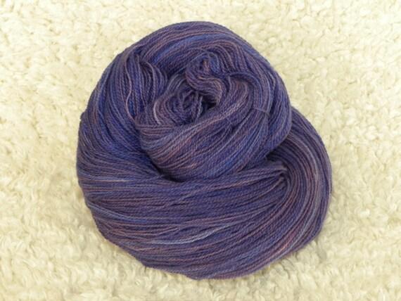 Hand Dyed Yarn, 2 ply lace weight, 100% Merino wool, 100g- Majesty