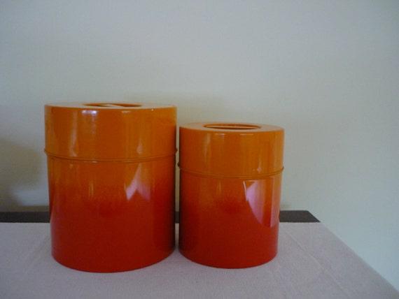 Canister sets orange images for Kitchen set orange