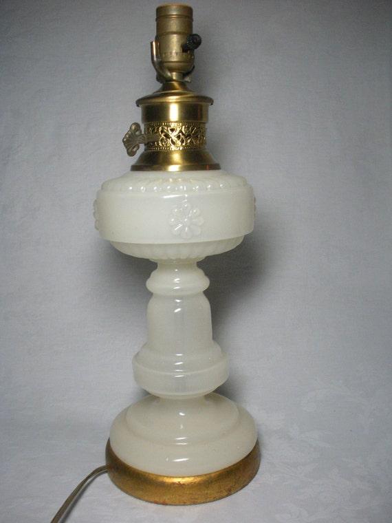 Lovely White/Cream Glass Lamp