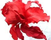 Gothic wedding red headband magic fashion style silk flower