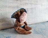 OOAK miniature sculpture plus size girl Goddess of the beach