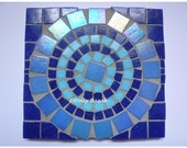 Blue Mosaic Table Stand