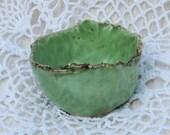 Small green porcelain bowl