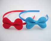 Headband, Felt Bow Headband  - set of 2