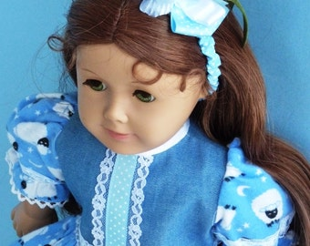 "18 Inch Doll Clothes for for American Girl Doll & 18"" Vinyl Doll.- LITTLE BLUE SHEEP 4-Piece"