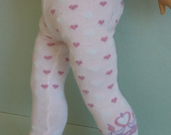 "American Girl Doll Clothes - Sweet Heart Leggings. Doll Leggings for 18"" American Girl Doll. Doll Clothes. Play Doll Clothes for Vinyl Doll"