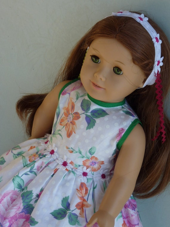 American Girl Doll Clothes - Sleeveless in Seattle:The Sixth-Pink Flower, 2-Piece Doll Outfit.