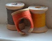 Vintage Spool Ring - Tangerine ooak