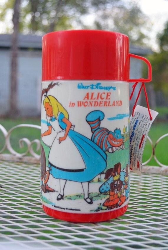 Vintage Alice in Wonderland Thermos