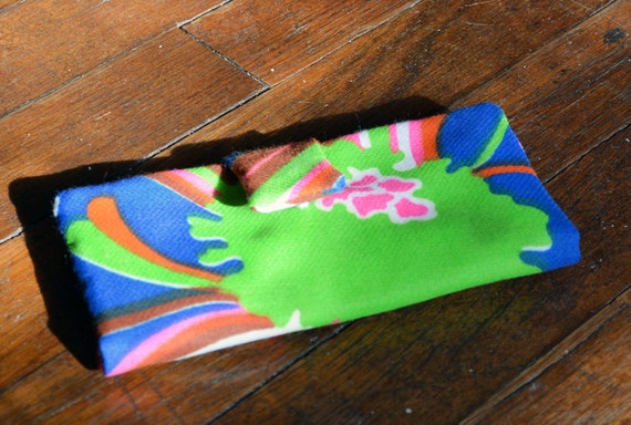 Psychedelic Blue Floral Wallet from Vintage Fabric