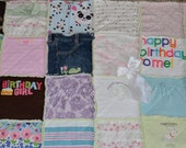 "49"" x 49"" Baby Clothes Memory Blanket Quilt -  FREE SHIPPING Domestically"