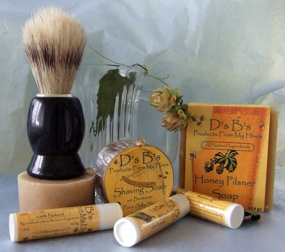 Gift for Him - Shaving Kit Gift Box, Honey Soap  & Beer Soap - Most Interesting Man - Dos Equis