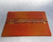 Orange Dot with Swirl Accent Pocket Tissue Holder