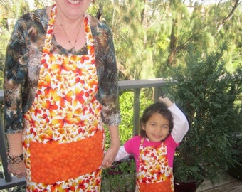 Mommy and Me Reversible Butterfly Print Aprons