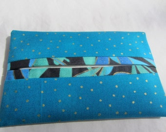 Teal Pocket TIssue Holder