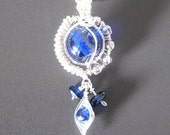 Blue glass bead pendant, Blue Belle