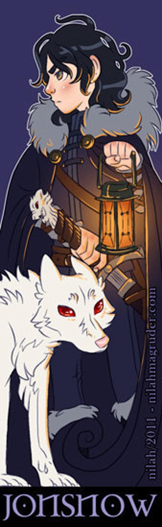 Game of Thrones Bookmark: Jon Snow