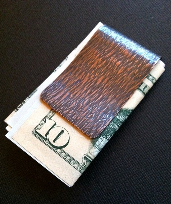 Rustic Copper Double-sided Money Clip
