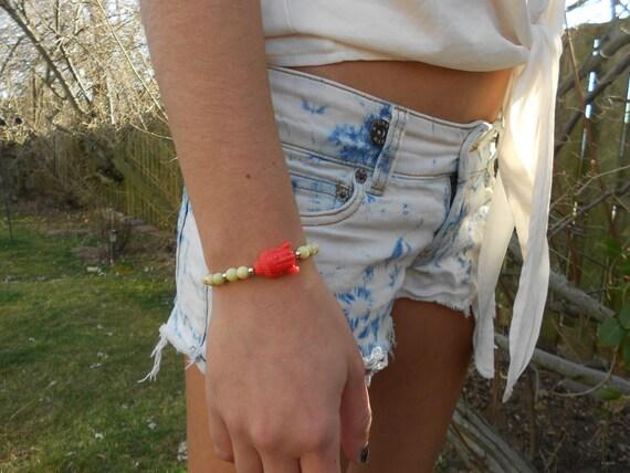 Coral Buddha Bracelet