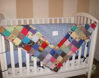Baby boy or girl quilt-E33