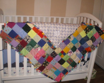 Boy or girl baby quilt-E37