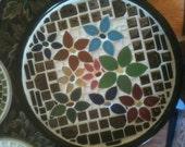 Mosaic ceramic tile plate/tray