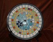 Decorative mosaic plate