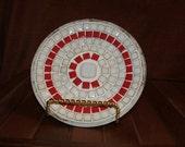 Mosaic ceramic tile decorative plate