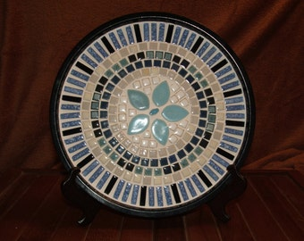Mosaic ceramic tile plate/tray
