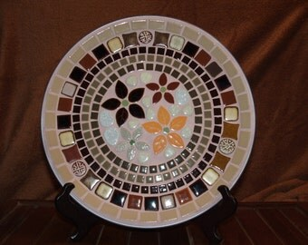 Mosaic ceramic tile decorative plate