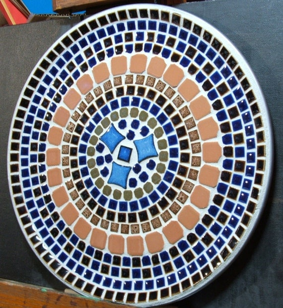 "12"" Decorative Ceramic Tile Plate"