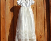 Ivory Satin and Lace Baptism/Christening/Blessing Dress
