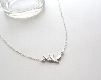 Dove Bird Necklace, sterling silver dove on dainty chain,  simple everyday jewelry, dainty jewelry, minimalist jewelry