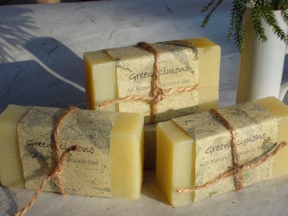 Grapefruit and Orange Natural Shampoo Bar/Soap-----Fresh Citrus Scent